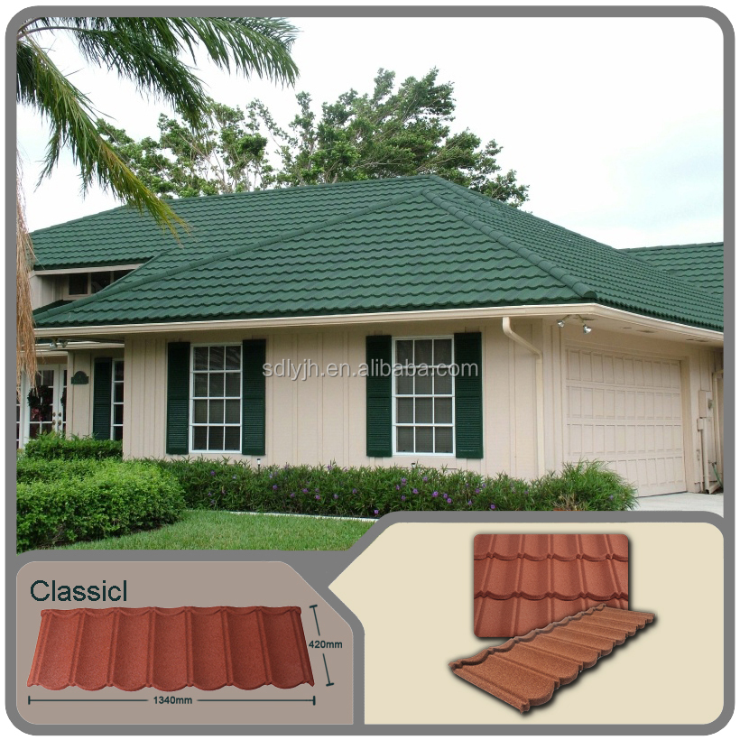 High tempreture resistant stone coated metal roof tile kerala roof tile prices synthetic resin roof tile
