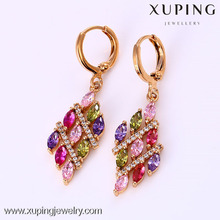 25916 Fashion design jewelry 18k gold color vietnam jewelry earrings