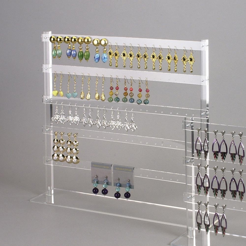 Wholesale AcrylicJewellery Earring Display for Multiple Earrings, Clear Acrylic Drop Earring Jewellery Display Stand Rack