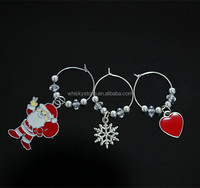 High quality zinc alloy christmas wine charms with all kinds of shape for party decoration