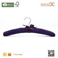 Eisho Dark Purple High Quality Satin Hanger