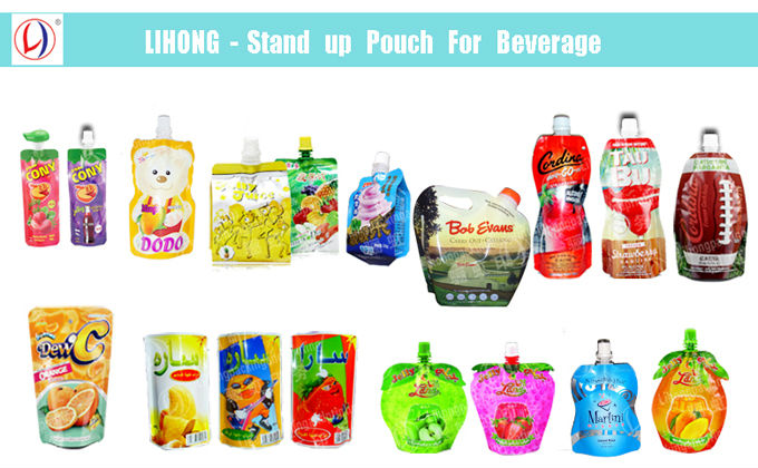 Food Grade Plastic Doypack Reusable Baby Food Pouch With Top Zipper