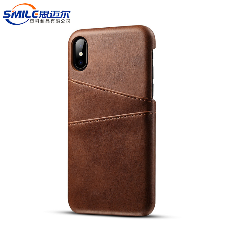 Luxury leather smartphone case for ip 6 7 8,for iphone x case brown leather
