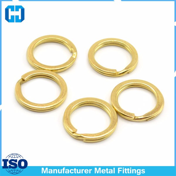 Gold Metal Keyring Split Steel Ring Making Hardware