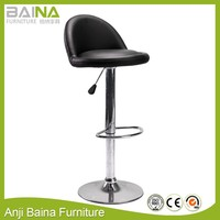 Soft PU swivel sex stool leather with footrest