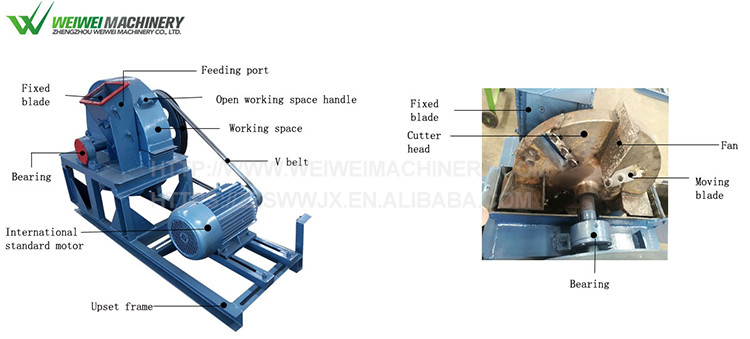 Weiwei garden use newest used wood shaving machine