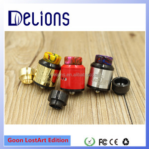 Delions Ecig factory Newest goon 528 custom lostart rda limited edition 24K gold, red and silver Goon Lost Art Edition RDA