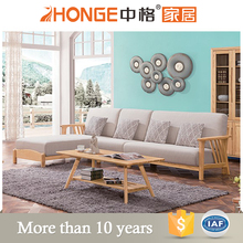 living room furniture nordic style fabric wooden teak wood sofa set designs and prices