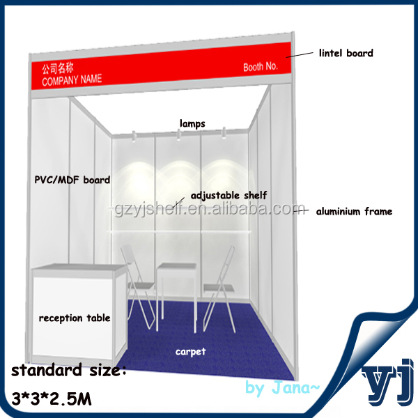 Exhibition Booth Standard Size : China standard portable aluminum exhibition stall