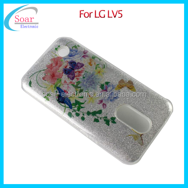 3 in 1 Design Glitter Bling TPU PC Mobile Phone Case Back Cover For LG LV5 K10 2017 Case