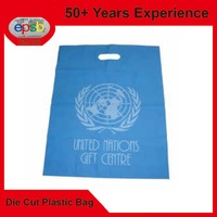Blue Film Punch Die Cut Patch Plastic Bag