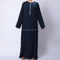 Wholesale Dubai Designs Men's Autumn Kaftan Abayas Long Clothing Turkish Muslim Abaya