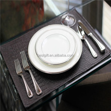 Luxury leather dining table floor mats