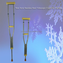 New Style Stainless Steel Telescopic Crutch for Old Men