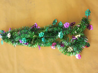 PET wire party decoration metallic plastic Mardi Gras garland