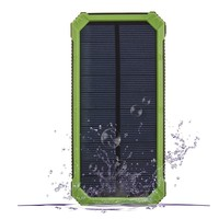 Mountaineering Emergency Backup High Capacity Charger Solar Power Bank With Lamp