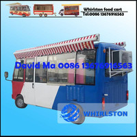 Whirlston Different Models Food Cart, Electric Mobile Food Truck, Bus Type Food Van For Sale