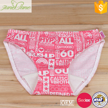 Best selling nylon fabric special pattern briefs women underwear panties