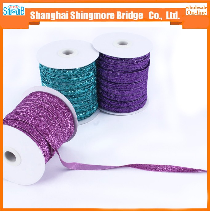 Textile factory direct wholesale lurex metallic satin ribbon for garment accessories, gift craft packing and decoration