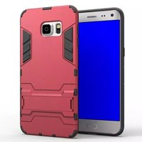 2 In 1 Hot Selling Iron-Bear Stand Rugged Hybrid Shockproof Case For Samsung Galaxy S6 Edge Plus