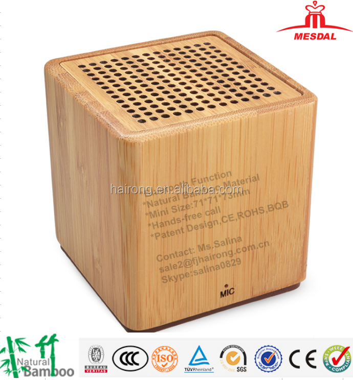 Hairong innovative products <strong>mp3</strong>/mp4 player wireless bamboo bluetooth speaker