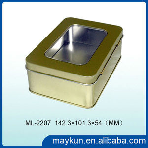 Offer cookie tin/biscuit tin/chocolate box with PVC window on lid ML-2207