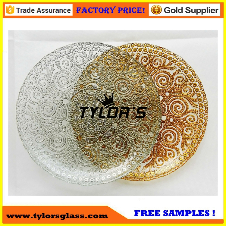 Cheap Clear Silver Lace Charger Plates For Wedding Decoration
