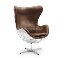 Aviator Egg chair aluminum bistro chair YH-180