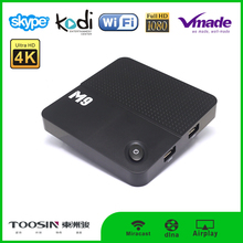 Toosin HD hot selling cool design digital cable tv set top box Support H.265, 4K*2K with 2 X USB 2.0 box