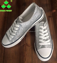 Glitter Canvas Low Top Sneakers Sports Tennis Shoes
