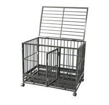 Large steel tube dog cage outdoor folding modular tube dog cage for sale