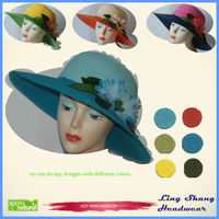 2013 cheap and elegant lady straw hat straw boater hats cheap Straw Hat Suppliers ,LSP-103