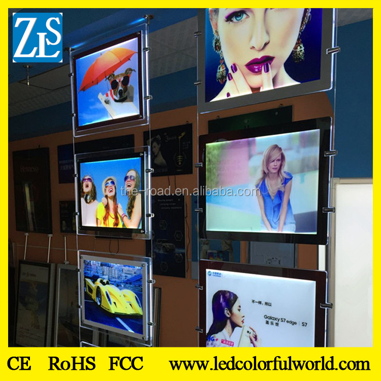 Double side Ultra Slim/thin Clear Acrylic LED Light Box, LED advertising light Box