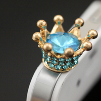 rhinestone dust plug luxurious crown earphone dust,promotion gift