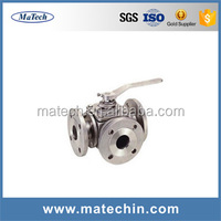 China Made 3 Pieces Stainless Steel High Pressure Motorized Ball Valve