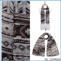 USA Fashionable Gray Aztec Scarf In Women