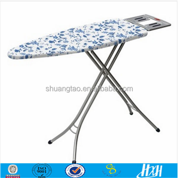 Adjustable ironing board, four feet ironing board, industrial ironing board