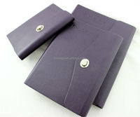 2015 stationery purple leather cover portfolio
