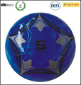 Blue color hot selling stock soccer ball PVC material factory cheap price