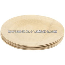 Wholesale Round Unbreakable Bulk Bamboo Disposable Dessert Plate
