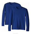 Navy Blue Spandex Polyester Dry Fit Peformance T Shirt Mens Blank Long Sleeve Fishing Shirt UPF Wholesale Fishing Shirt