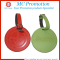 Promotional personalized leather luggage tag