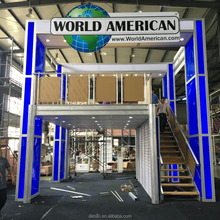 Detian offer Americal World Wide modular double deck exhibition booth two story display stand