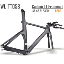 Winow 700c carbon time trial BB86 full carbon tt frame with frame fork seatpost handlebar included 45 48 51 53cm size frameset