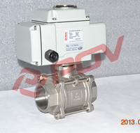 3 pc electric on off thread 2 inch 12 volt ball valve