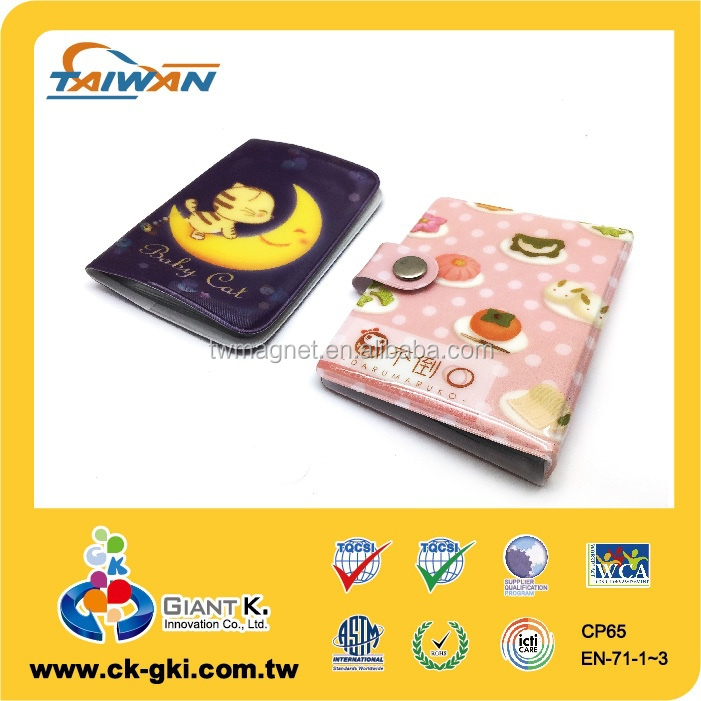 cute lovely waterproof multiple id card holder with buckle