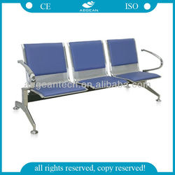 AG-TWC002 PU cover Material of sea board hospital waiting chair