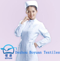 china supplier clothing t/c 65/35 21*21 100*52 white fabric nurse uniform dress kitchen uniform