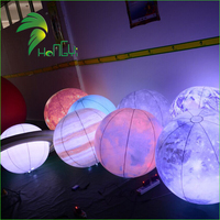 2017 Led Lighting Inflatable Nine Planets, The Solar System Hanging Balloon For Decoration
