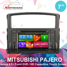 capacitive touch screen car dvd player for Mitsubishi Pajero V97 with 3g/wifi internet, DVR, DSP audio, mirror link